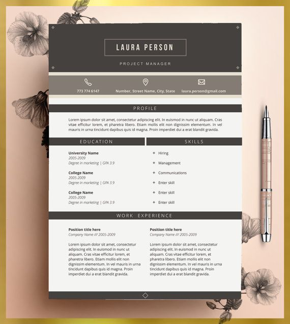 Word Resume Template 2007 35 Best Resume Images On Pinterest  Resume Templates Creative .