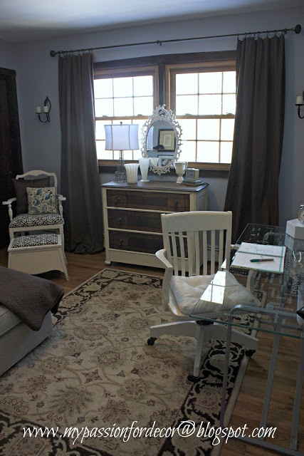My Passion For Decor Transforming The Guest Bedroom Into An Office