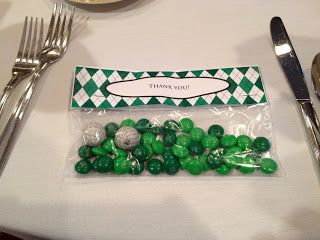 Golf Themed Party Favors, Chocolate Golf Balls
