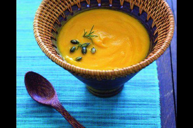 Mrkvová polévka s dýňovými semínky