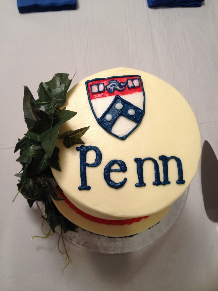 Upenn Cake Graduation In 2019 Cake Grad Parties