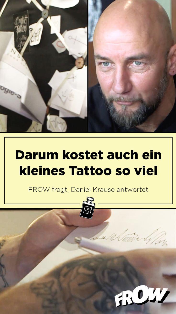 Warum kosten auch kleine Tattoos so viel Geld? Daniel Krause beantwortet dir diese Frage. Und verrät, was faul ist, wenn dich dein kleines Tattoo eines Herzens nur 30 Euro kostet.