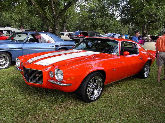 Gorgeous Hugger Orange '70 Chevy Camaro Z28. Awesome American Musclecar!