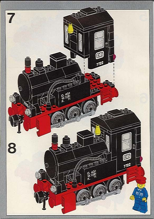 Trains - Steam Cargo Train Set [Lego 7722]