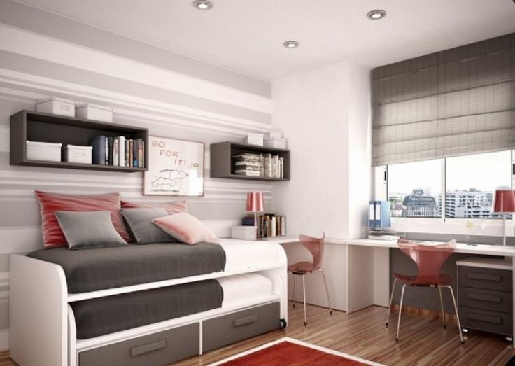 Kids Bedroom Furniture Exotic Gray White Bunk Beds With Fantastic Pink  Chairs Also Wonderful Study Tables