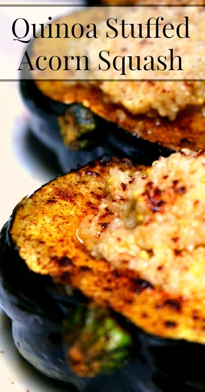 Quinoa Stuffed Roasted Acorn Squash  Easy Fall Recipes  {Real Food, Vegetarian, Primal, WAPF, Traditional Foods}