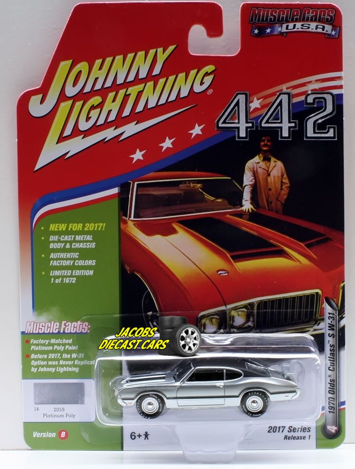 1:64  JOHNNY LIGHTNING MUSCLE CARS USA 2017 SERIES 1B - 1970 OLDS CUTLASS S W-31 #JohnnyLightning #Oldsmobile
