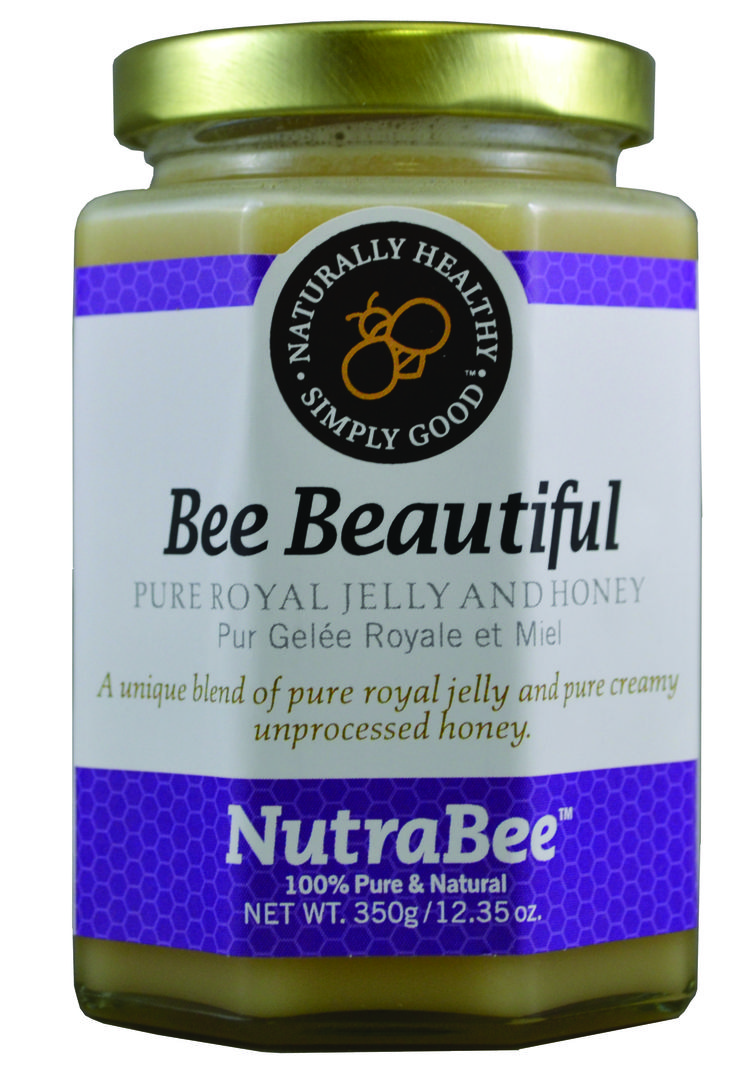 Fresh Royal Jelly and 100% pure unprocessed Canadian honey makes Bee Beautiful a super food.