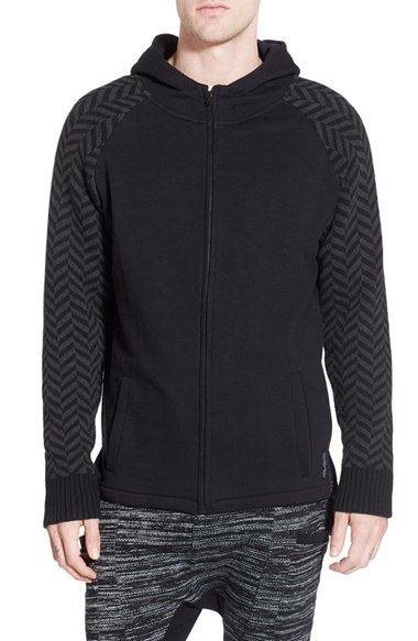 Strand 'Langston' Zip Hoodie with Knit Sleeves