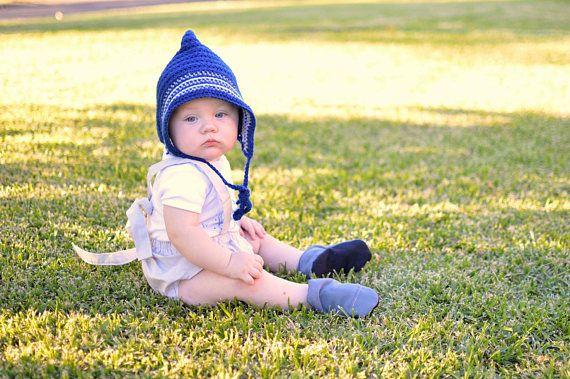 Crochet pattern pixie hat PDF download baby bonnet newborn