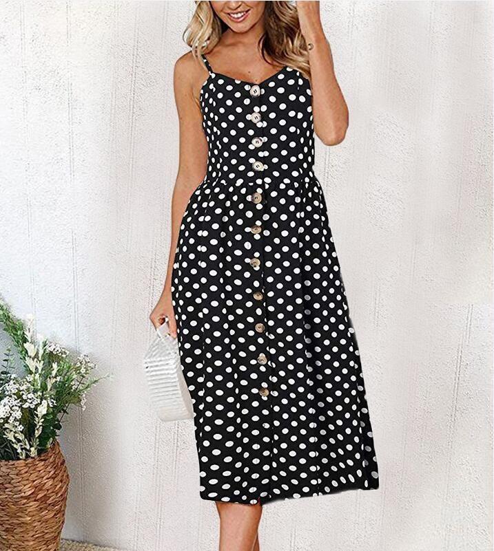 9d71df3ac2773 Casual Vintage Sundress Women Summer Dress 2019 Boho Sexy Dress Midi ...
