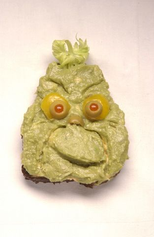 Guacamole Grinch~ Who Said You Can't Play With Your Food? - Blisstree
