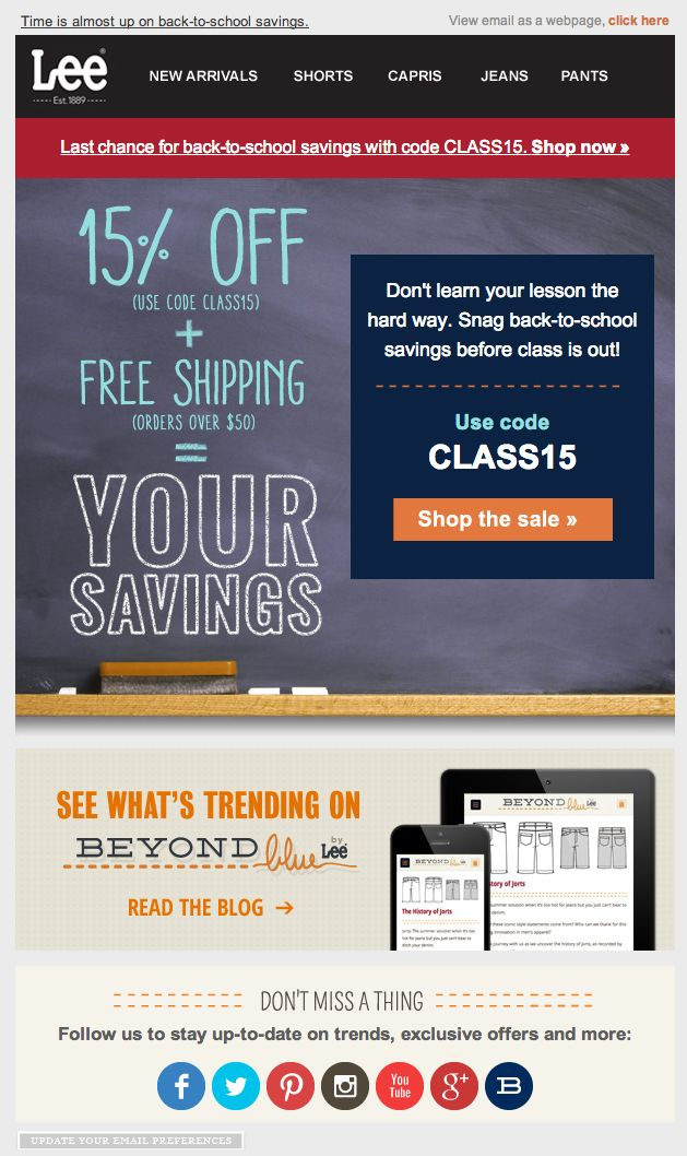 19 best email holidayback to school images on pinterest back to lee jeans back to school email 2014 fandeluxe Image collections