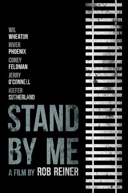 """Stand By Me"" (1986)  Brickhut.... genius movie posters!"
