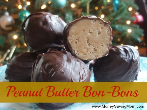 Peanut Butter Bon-Bons -- quick, easy, and oh-so-yummy! Plus, you can make them ahead of time and store in the freezer.