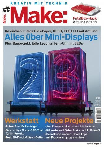Cover Der Aktuellen Ausgabe Von Make Arduino Raspberry In 2018