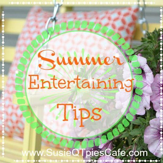 Sommer unterhaltsame Tipps und Pfirsich Blueberry Basil Iced Tea Rezept