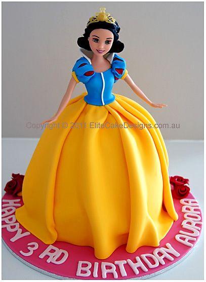 jewelry crafts Snow White Princess Girls Birthday Cake