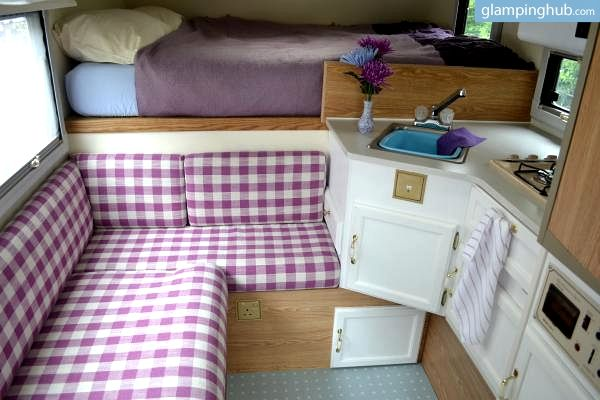 Renovated, Vintage Style Truck Camper Rentals, California