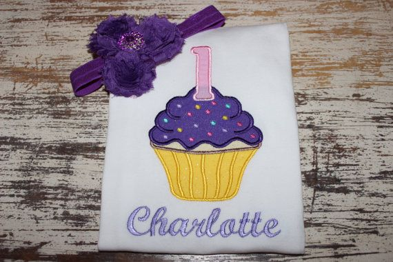 Happy 1st Birthday Personalized Cupcake by LBChildrensBoutique, $29.50