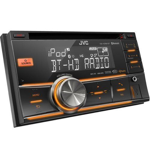 JVC 2-DIN Bluetooth Dual USB-CD Receiver HD (KWHDR81BT) by JVC. $193.95. Double-DIN CD receiver w/ Bluetooth, HD Radio, Dual USB Ports, and Aux Input. Product Details: MOS-FET 50W x 4 (20W RMS x 4)24-bit DACBluetooth(R) Wireless Technology (USB Bluetooth(R) adapter included)(Phone Book Access Profile, Phone Book Transfer, Hands-Free Call, Audio Streaming, AVRCP, Text Message Receipt Notification, Voice Recognition Dialing, Compatibility Check Mode, 2 Phones Full-Time Connection...