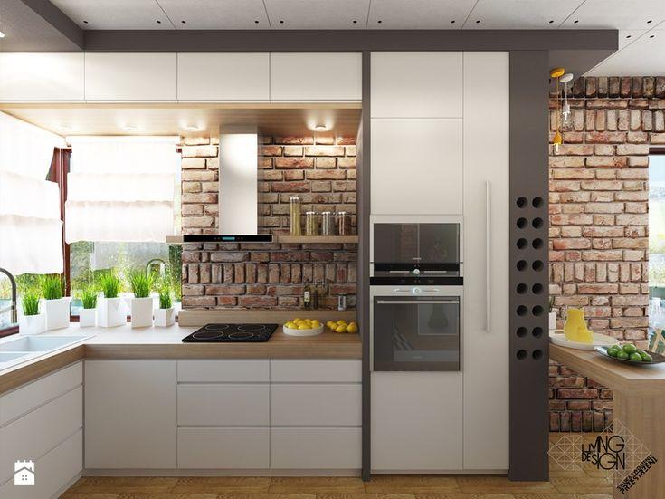 nowoczesna kuchnia, białe meble z funkcjonalnymi szafkami