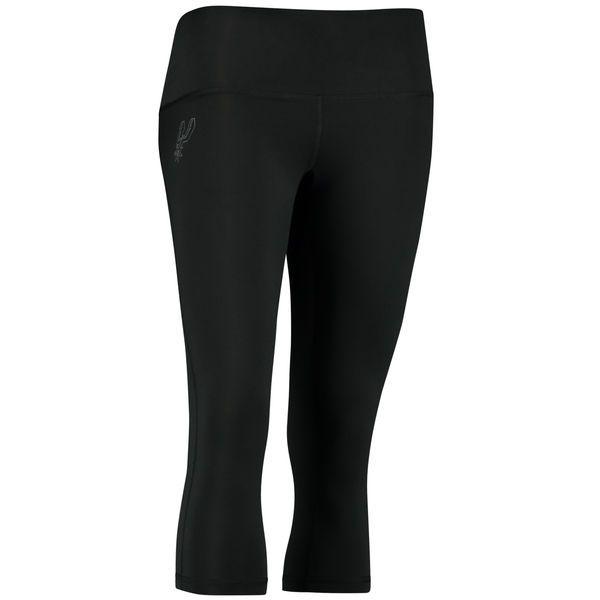 Women's San Antonio Spurs adidas Black 3/4-Length climalite Leggings - NBA Store