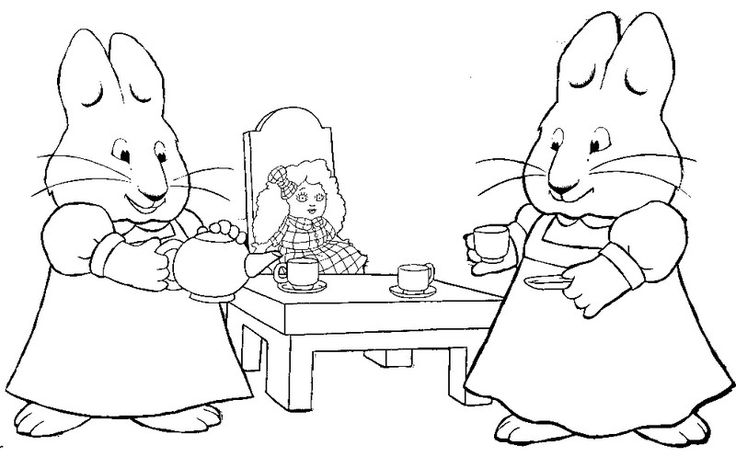 10 best max and ruby images on Pinterest | Coloring pages ...
