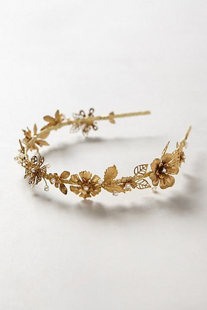 Gilded Bloom Headband - anthropologie.com #anthroregistry