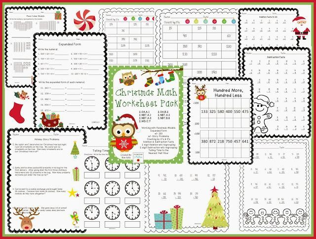 Maths Worksheets Pdf Pdf  Best Nd Grade Math Images On Pinterest  Second Grade Nd  Free Printable Math Worksheets For Kindergarten Pdf with Ow And Ou Worksheets Teachers Little Helpers Holiday Products To Get You Through The Month Christmas  Math Worksheetsmath  1st Class Worksheets