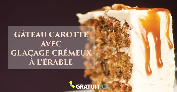 Les carottes râpées sont un choix nutritif, et avec des noix et du sirop d'érable c'est presque un dessert santé :)
