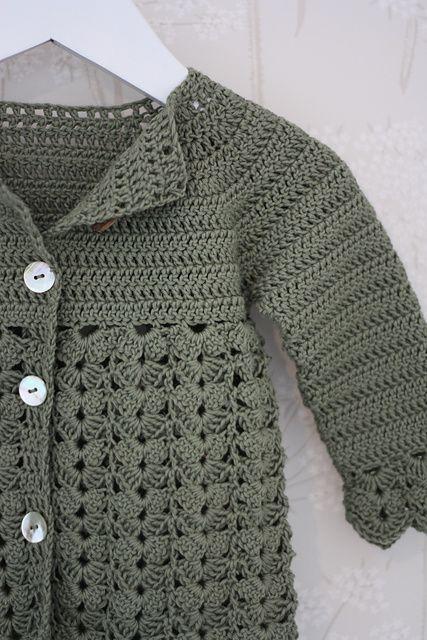 Ravelry: Conchas dulces patrón de chaqueta por diseño DROPS