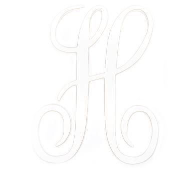 Harper Cursive Letter H White Cursive Letters Bed