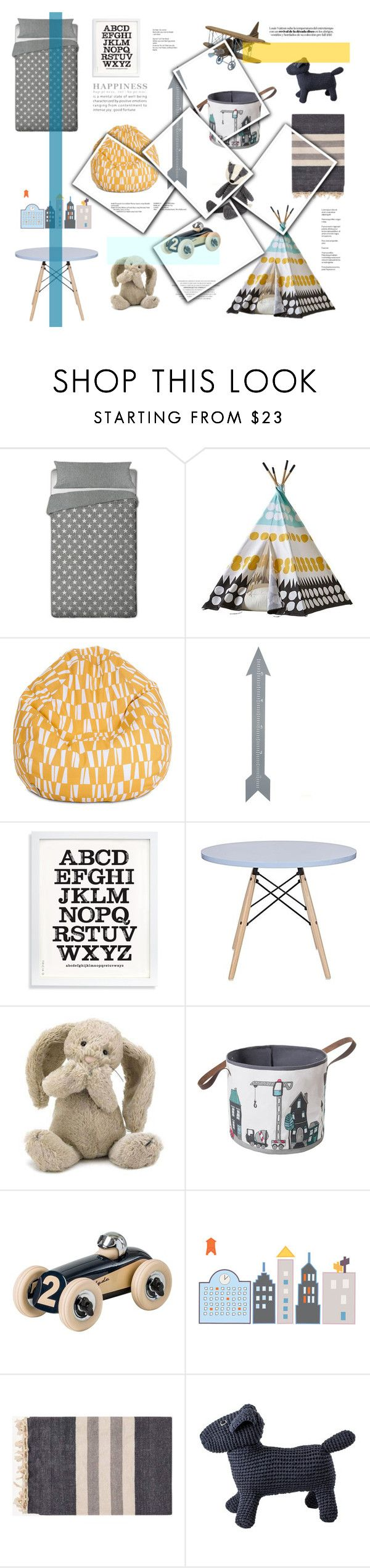 """""""Play space"""" by rheeee on Polyvore featuring interior, interiors, interior design, home, home decor, interior decorating, Dot & Bo, Twelve Timbers, Jellycat and Sebra"""