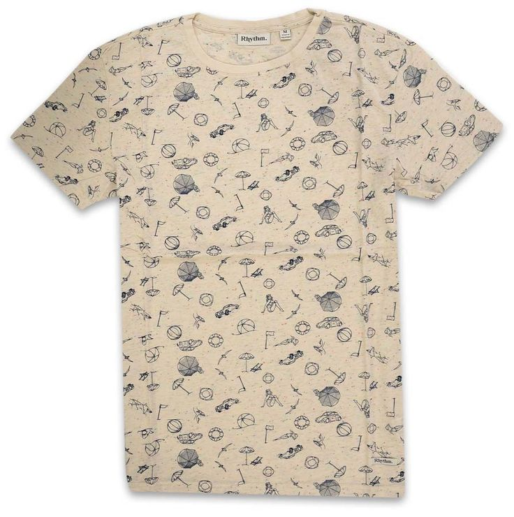 T-Shirt Rhythm LIFE'S A BEACH Crème