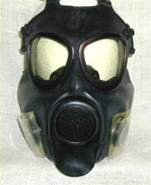 Vietnam era U.S. ARMY M17A2 Field Protective Gas Mask