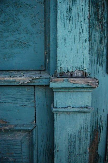 blue architectural detail