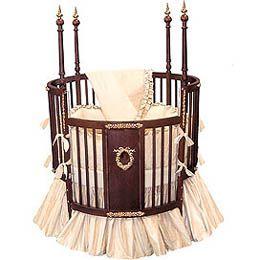 Round Victorian Baby Crib
