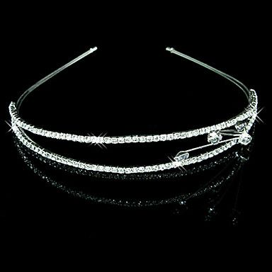 Clear Crystals Wedding Bridal Tiara/ Headpiece/ Headband – USD $ 2.85...I'm sure that little piece of asymmetric ness can come off....