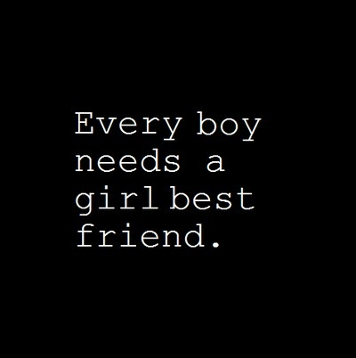Every boy needs a girl best friend. You don't need to date very boy who is friendly to you, being friends is awesome too:)