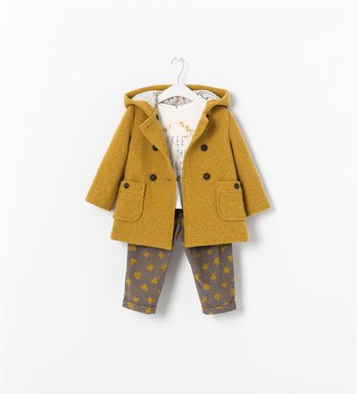 Zara for kids...mustard pea coat