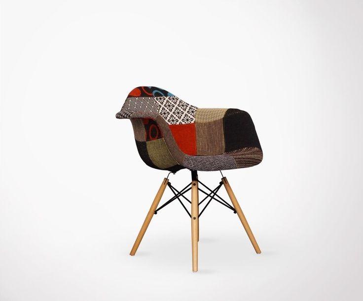 17 meilleures id es propos de chaises eames sur for Fauteuil patchwork eames