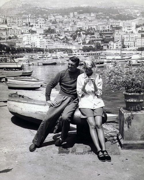 Carey Grant and Grace Kelly (via note to self)