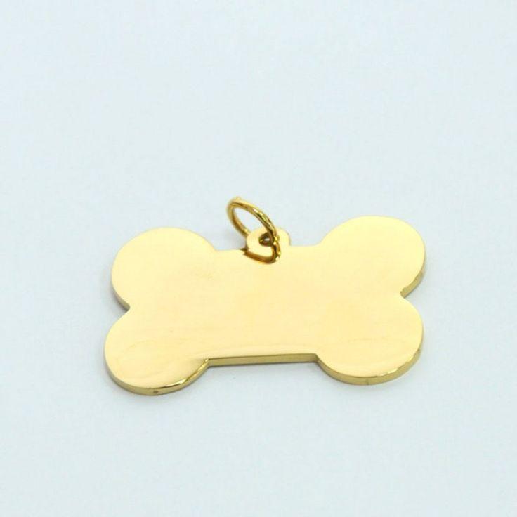 Placa identificación para perro|Colgante para mascota|Acero Inoxidable|Forma hueso para perro|Colgante personalizado|Placa grabada de FotoNgrab en Etsy