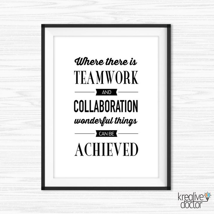 Teamwork Sign Teamwork Wall Art Encouraging Teamwork