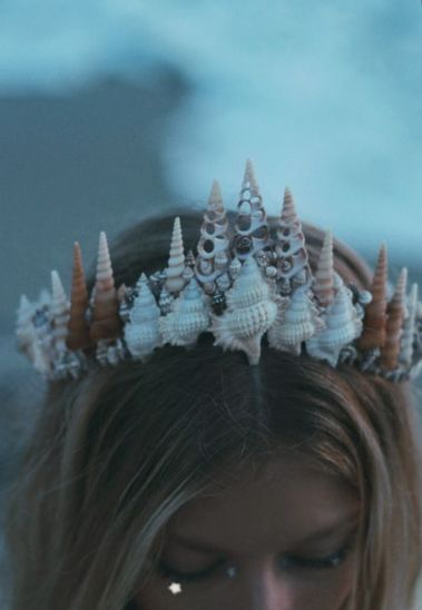 MERMAID TIARA, SHELLS, SEA PUNK