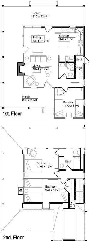 Cabin plan and blueprint lakeside cabin plan download for Lakeside floor plan