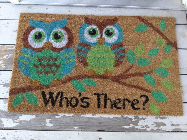 Cute owl mat $9.99 @ Ross Stores. Isn't this the one we got you, K?!!!