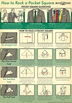 How to Rock a Pocket Square: An Illustrated Guide