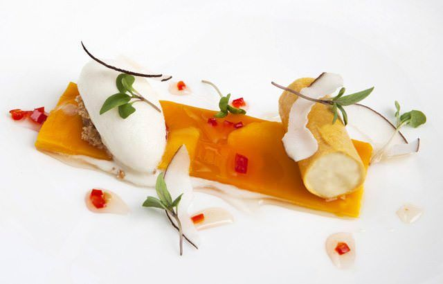 This passion fruit parfait recipe by Richard Corrigan combines the parfait fresh mango with a lemongrass and lime sorbet. This is a great summer dessert
